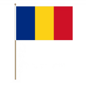 Romania Country Hand Flag - Large